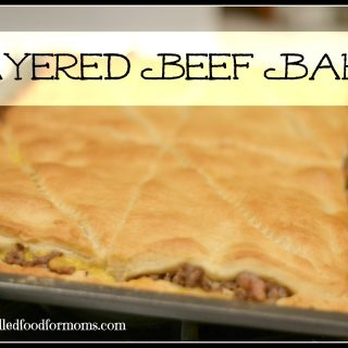 This 20 minute layered beef bake is so easy to make! Super kid friendly made with simple ingredients!
