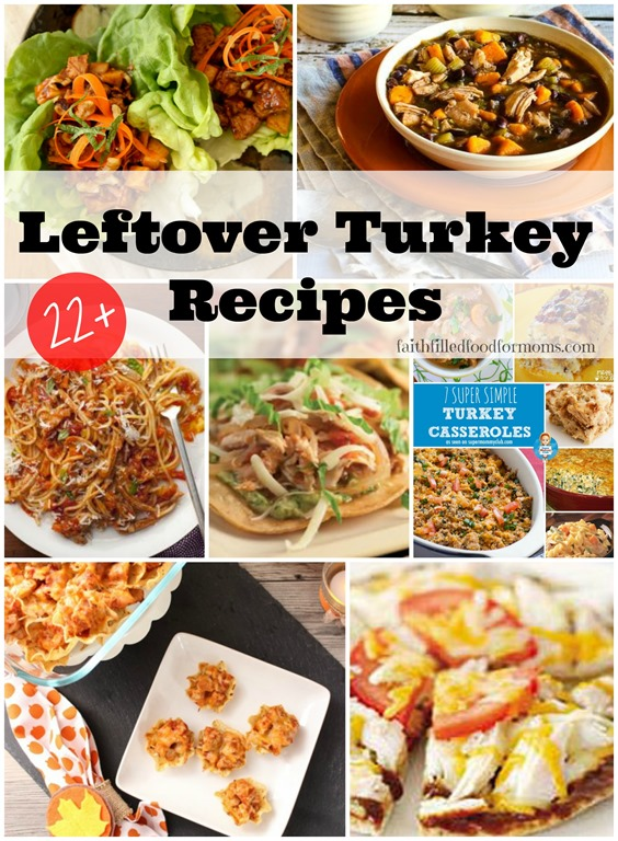 Over 22 Leftover Turkey Recipes that the whole family will love! #Leftovers #turkey