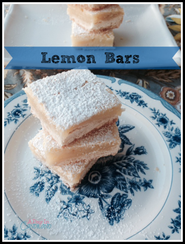 Lemon-Bars-on-White-Plate-and-Blue-and-White-Plate-with-Powdered-Sugar