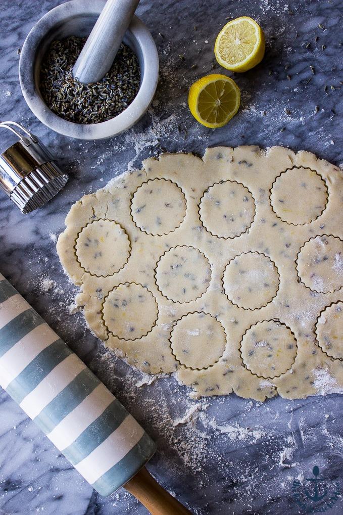 Lemon Lavender Shortbread Cookies by The Beach House Kitchen