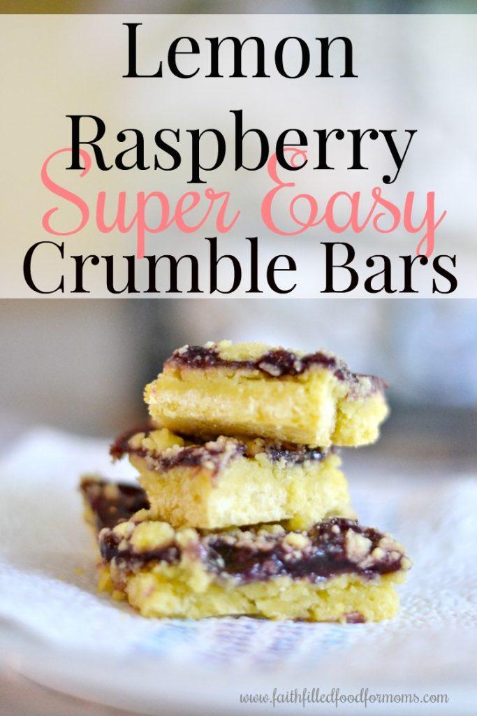 Lemon Raspberry Crumble Bar Recipe