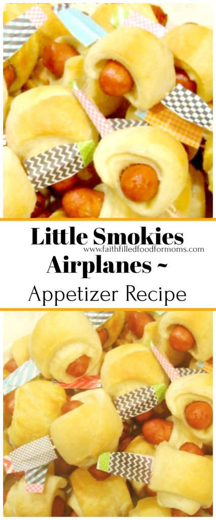 Little Smokies Airplanes-Appetizer Recipe Great for Baby Showers and Birthday Parties!