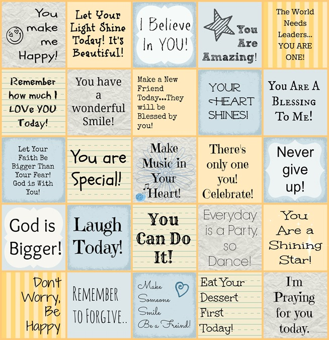 Printable Encouraging Lunch Box Notes for Kids! Encouraging kids is one of the most important things you can do in this day and age! Use these fun printable notes in lunch boxes, under pillows, anywhere!