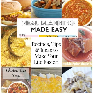 Meal Planning Made Easy #13