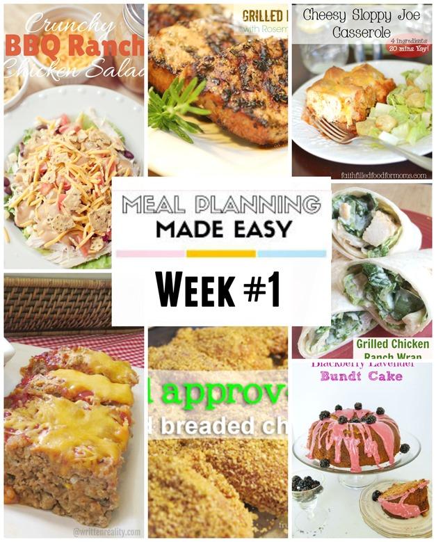 Meal planning week 1