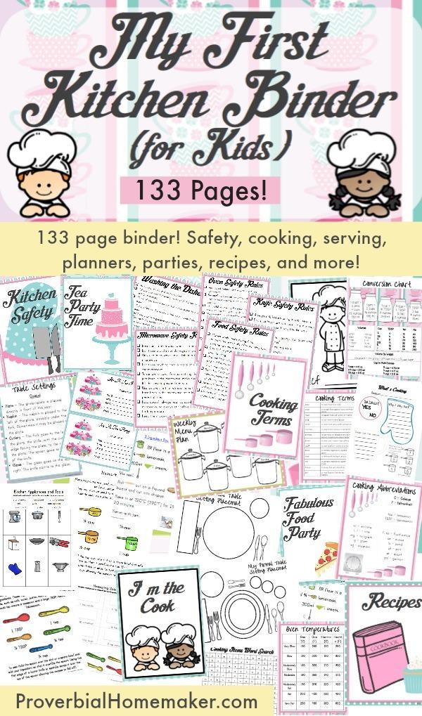 My First Kitchen Binder for Kids