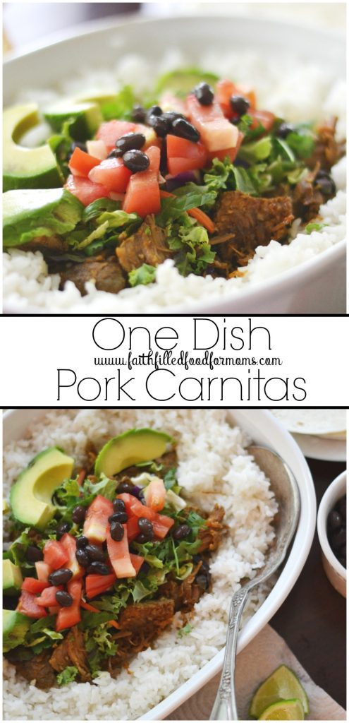 One Dish Pork Carnitas