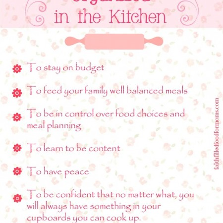 Finding Christ in the Kitchen Day 13 Organization
