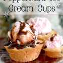 Peppermint Chocolate Ice Cream Cups