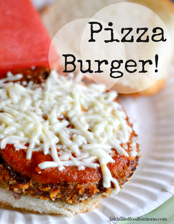 Pizza Burgers with Frozen Hamburger Patties