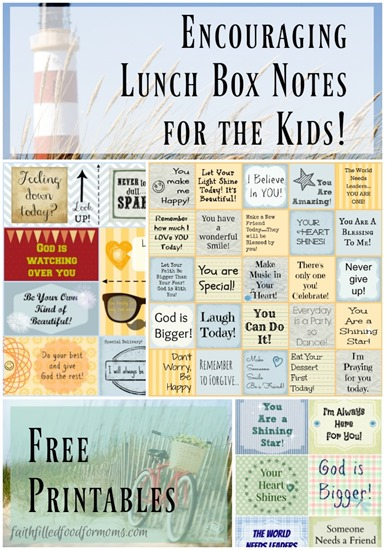 Printable Lunch box Notes for Kids