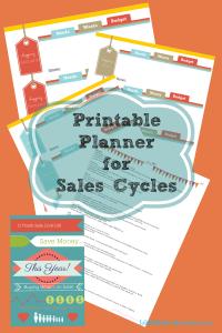 Printable Planner 4 Sales Cycles