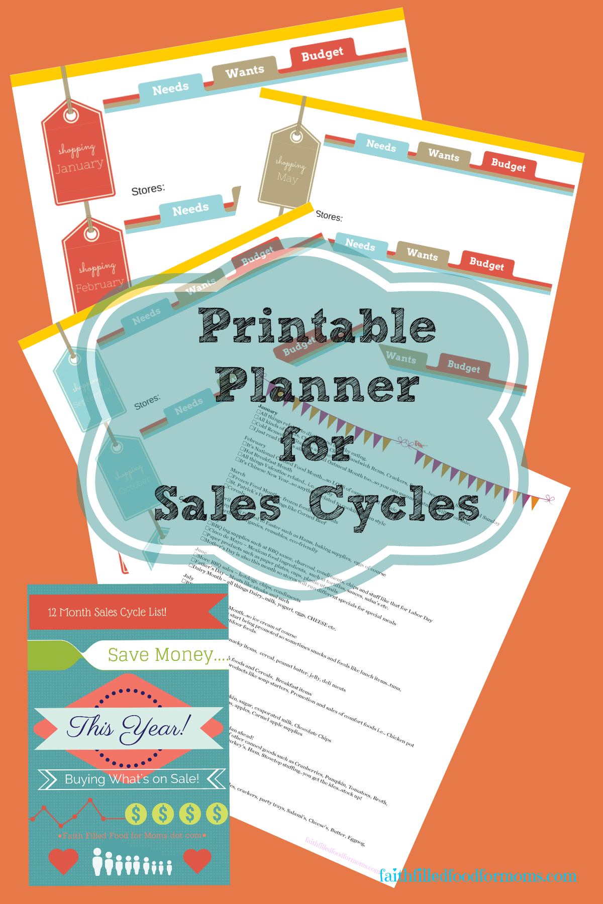 Save hundreds every year using tried and true sales cycles that all stores use to reduce inventory! Use the free printable to help you organize and plan your year for wise purchases for food, electronics, furniture etc.