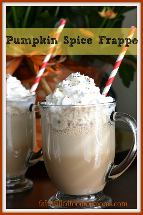 Pumpkin Spice Frappe' #loveyourcup