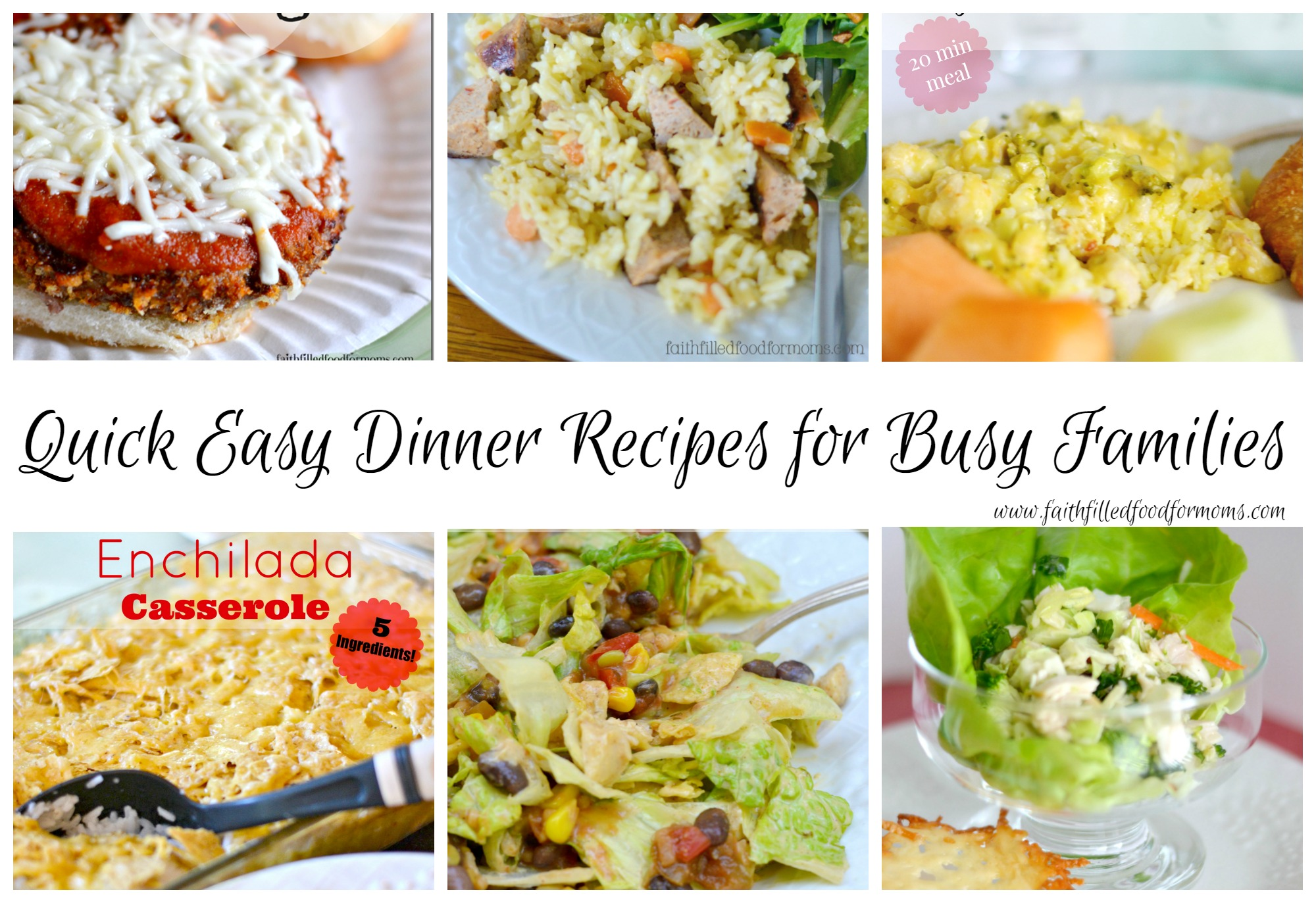 Easy dinner recipes for a family