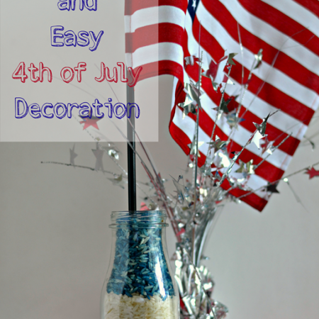 Quick and Easy 4th of July Decoration