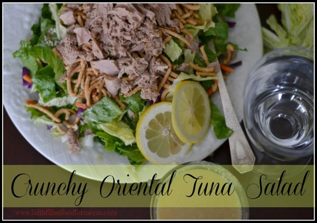 Crunchy Oriental Tuna Salad #OceanNaturals #shop