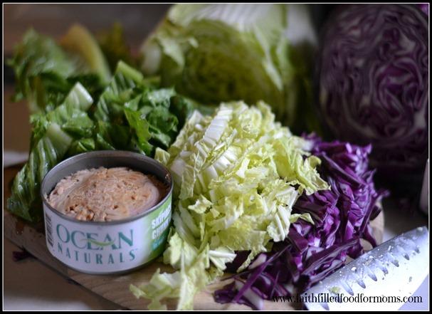 Crunchy Oriental Tuna Salad #OceanNaturals #shop