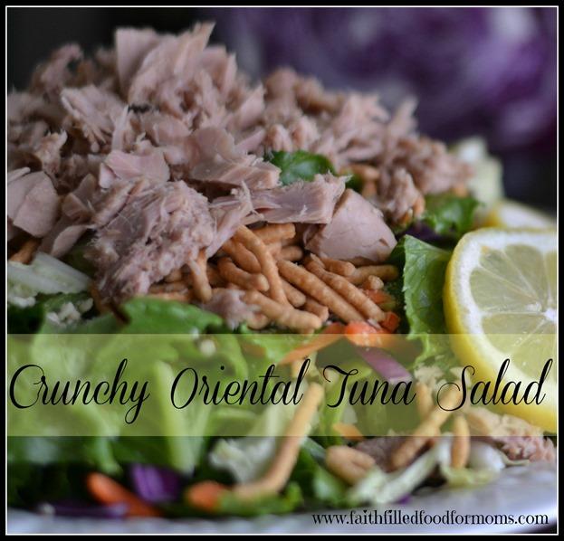 Crunchy Oriental Tuna Salad #OceanNaturals #shop #cbias