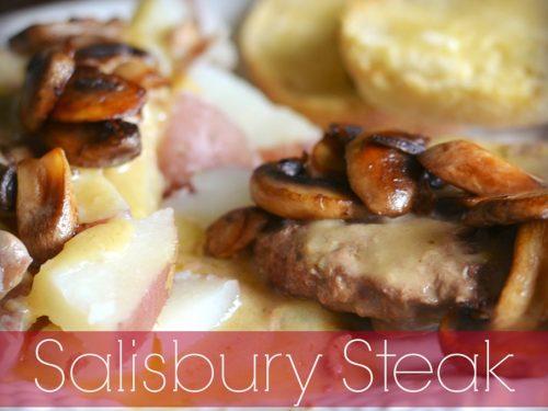 Salisbury Steak Meal Using Frozen Hamburger Patties Faith Filled Food For Moms