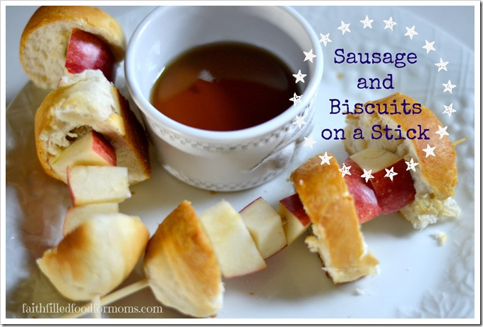 Sausage and Biscuits on a Stick 1