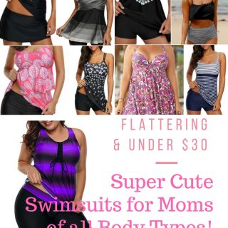 Super Cute Swimsuits for Moms of all Body Types! Covers up that pooch and stretch marks but still so flattering!