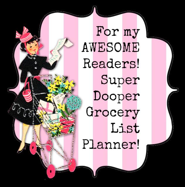 Super Dooper Grocery List Planner