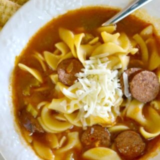 Sweet and Tangy Kielbasa Sausage Noodle Soup