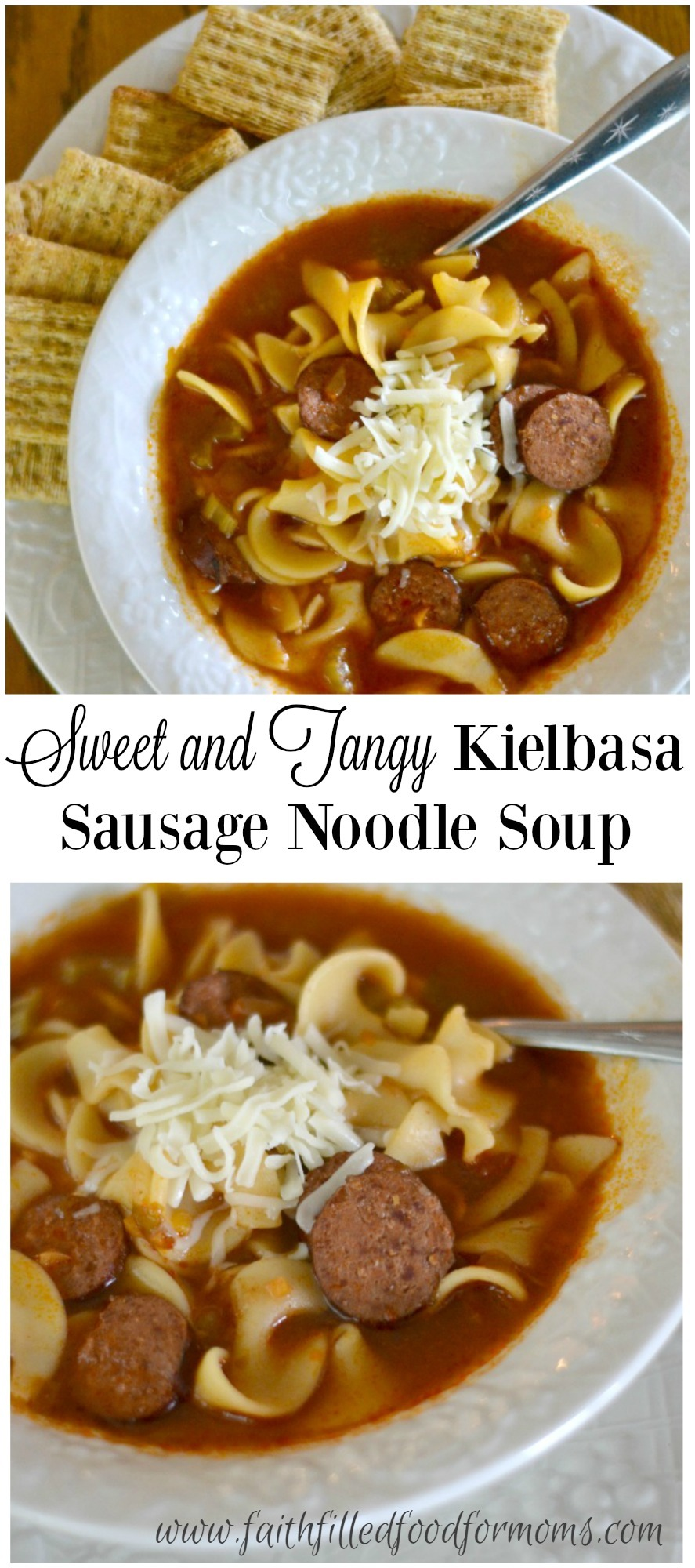 This sweet and tangy Kielbasa Soup takes only minutes to put together! A great hearty Fall meal that the whole family will love!