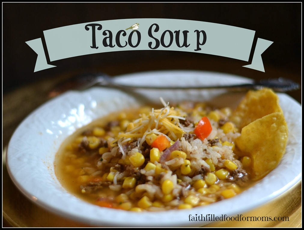 Single Serving Taco Soup and Use Up Those Leftovers