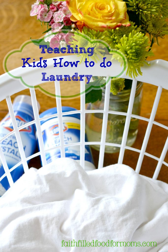 Teaching Kids How to do Laundry