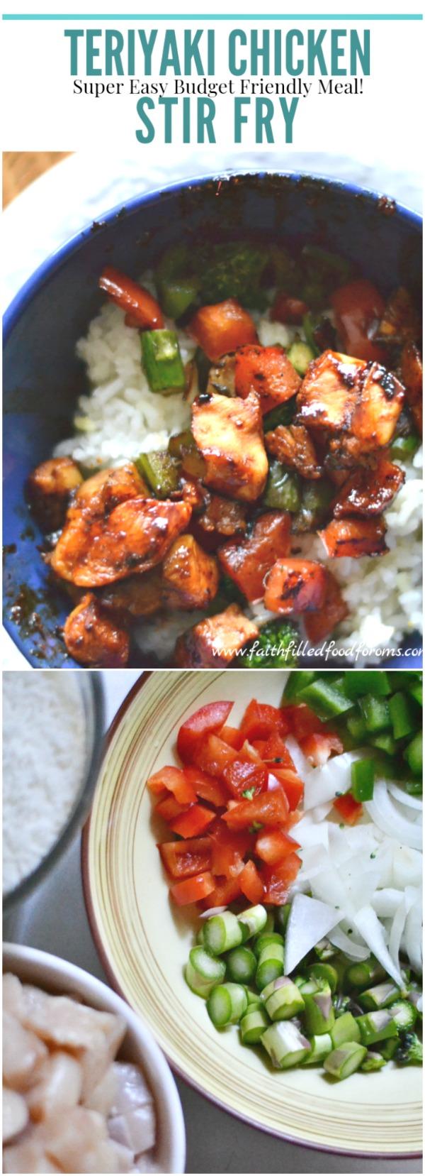 Teriyaki Chicken Stir Fry Super easy budget friendly meal!