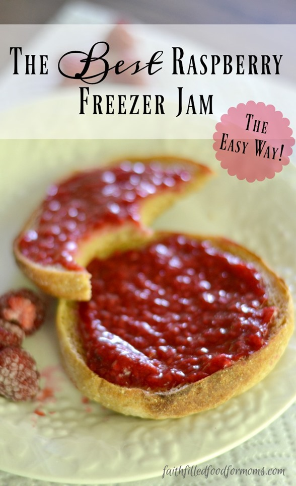 The Best Raspberry Freezer Jam the Easy Way
