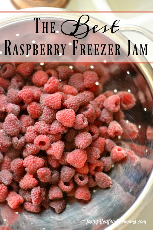 The Best Raspberry Freezer Jam the Easy Way!