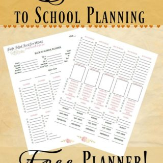 The Best of Back to School Planning 2016 ~ Free Planner