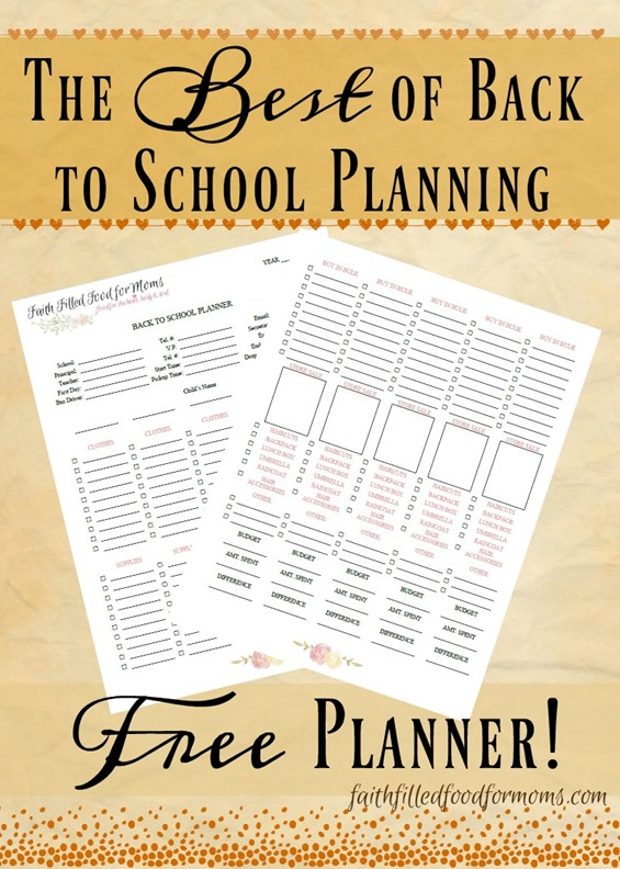 The Best of Back to School Planning - Free Planner
