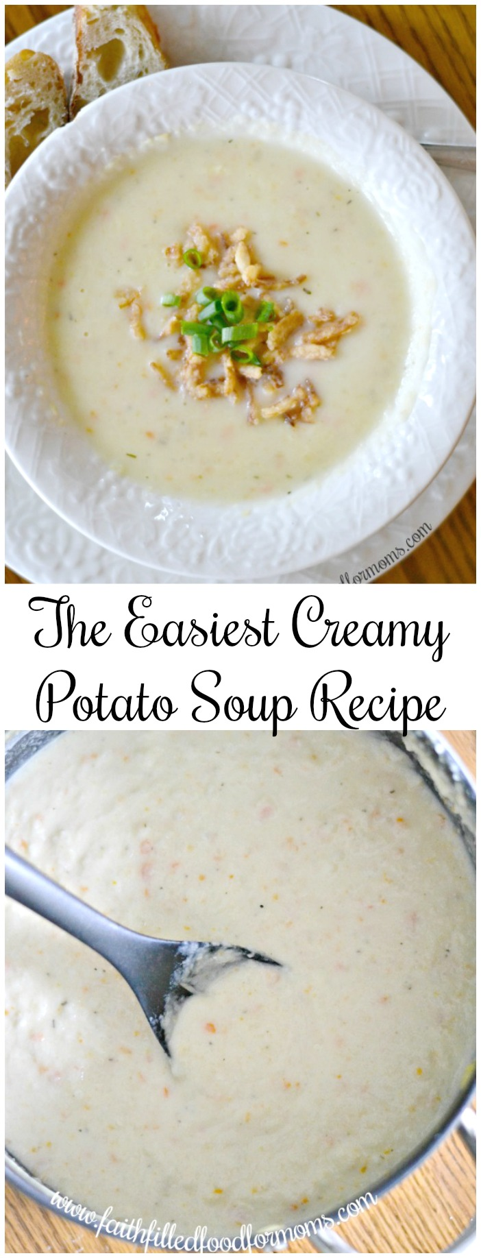 The Easiest Creamy Potato Soup Recipe ever!