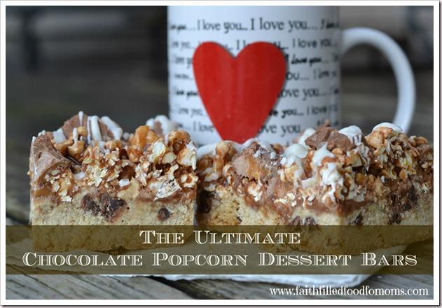 The Ultimate Chocolate Popcorn Dessert Bars