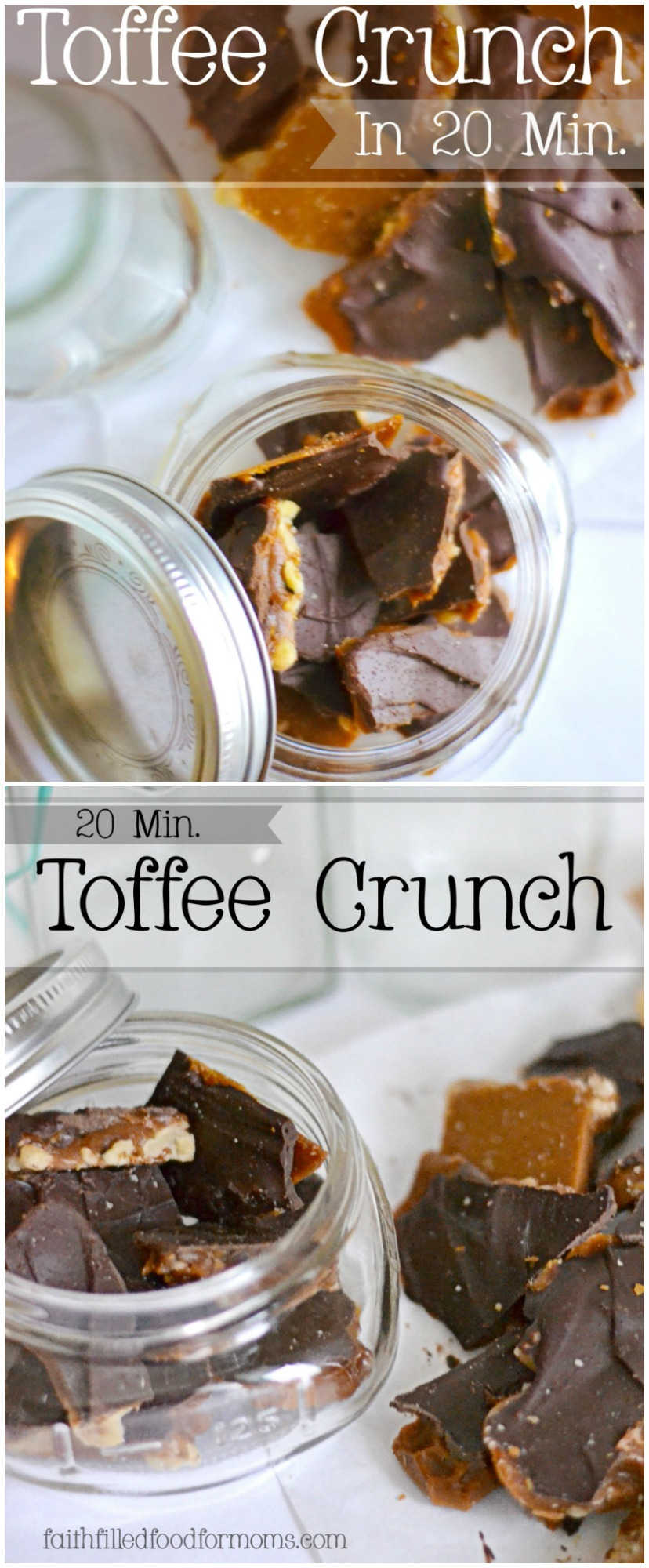 Homemade Toffee Crunch is a great first time candy making experience! Always turns out delish and makes a great gift!