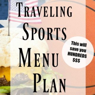 Traveling Sports Menu Plan