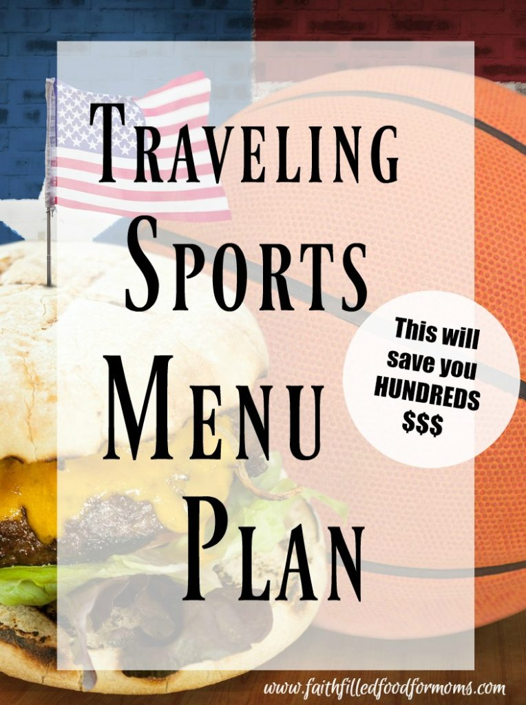 Traveling Sports Menu Plan 1