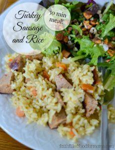Turkey Sausage and Rice Recipe