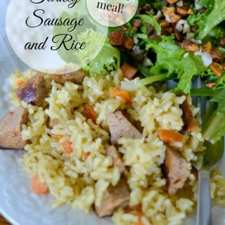 Turkey Sausage and Rice Skillet Dinner