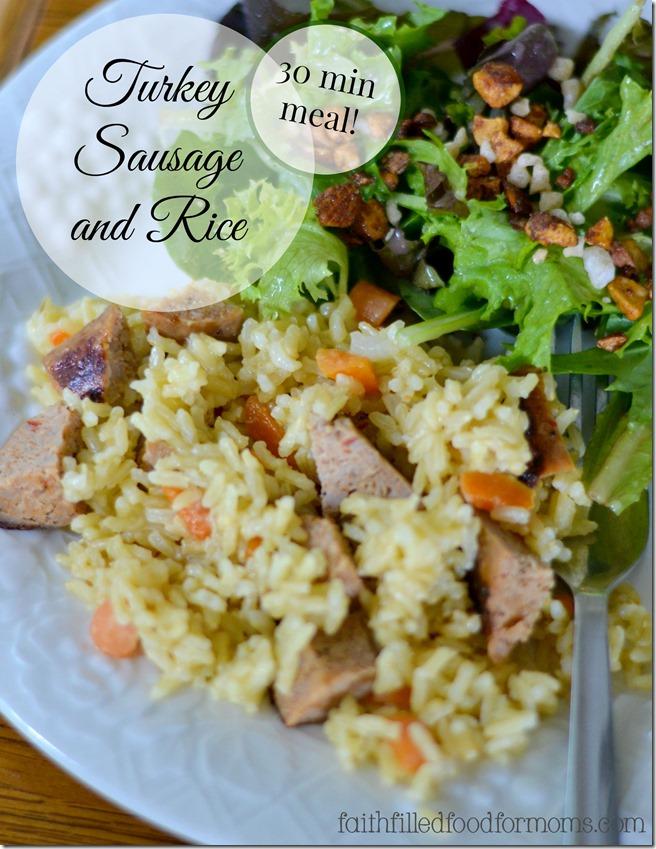 Turkey Sausage and Rice