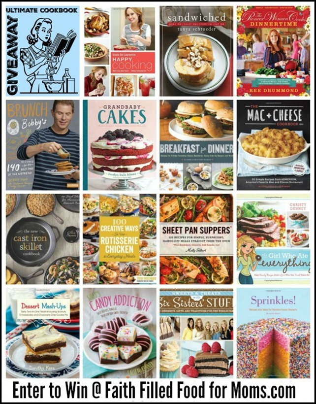Ultimate Cookbook Giveaway - Enter to win at Faith Filled Food for Moms
