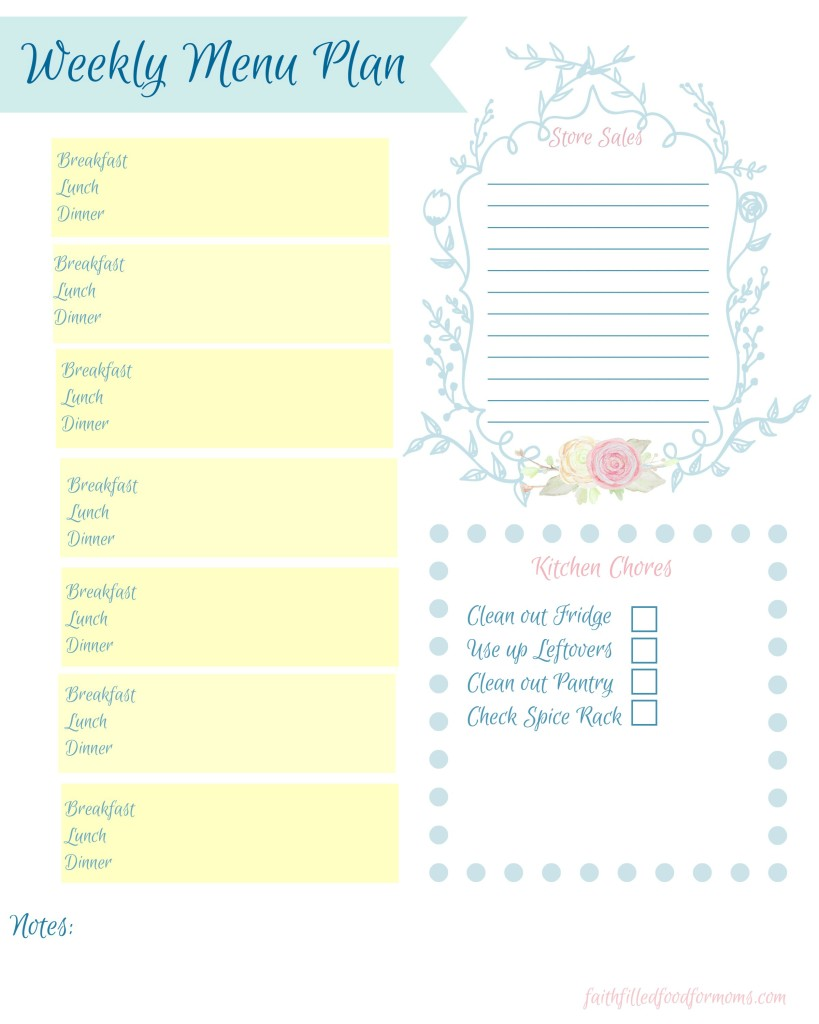 Meal Planning Made Easy • Faith Filled Food for Moms