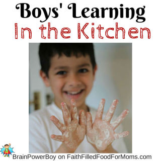 Boys Learning to Cook in the Kitchen