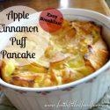 apple cinnamon Puff pancake 1