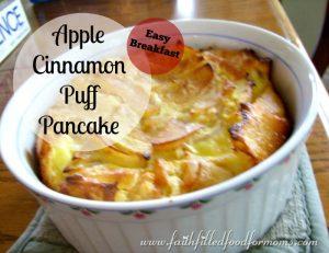 Apple Cinnamon Puff Pancake