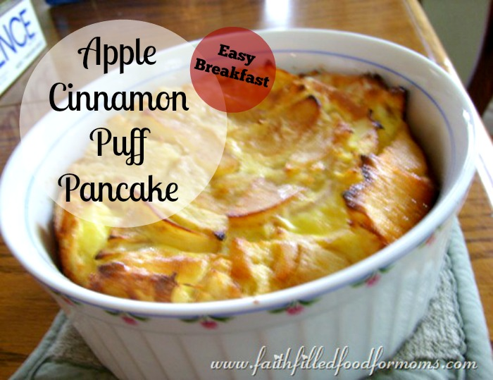 apple cinnamon Puff pancake 1
